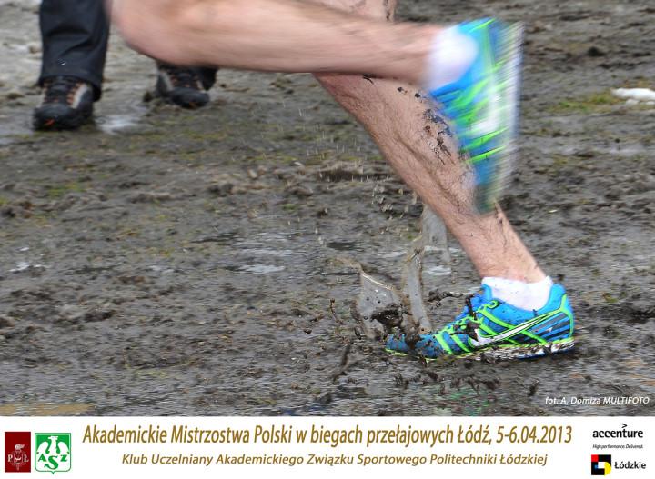 Akademickie Mistrzostwa Polski w biegach przełajowych, Łódź 5-6.04.2013